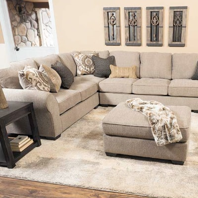 PANTOMINE 4PC WITH RAF CUDDLER SECTIONAL